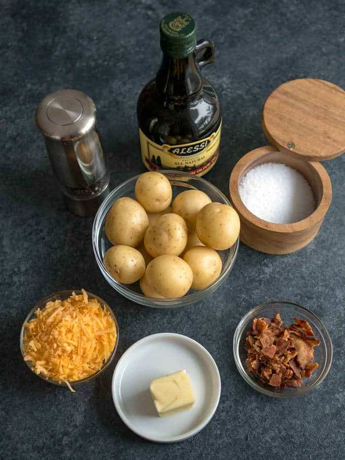 Ingredients for Crispy Loaded Potato Smashers