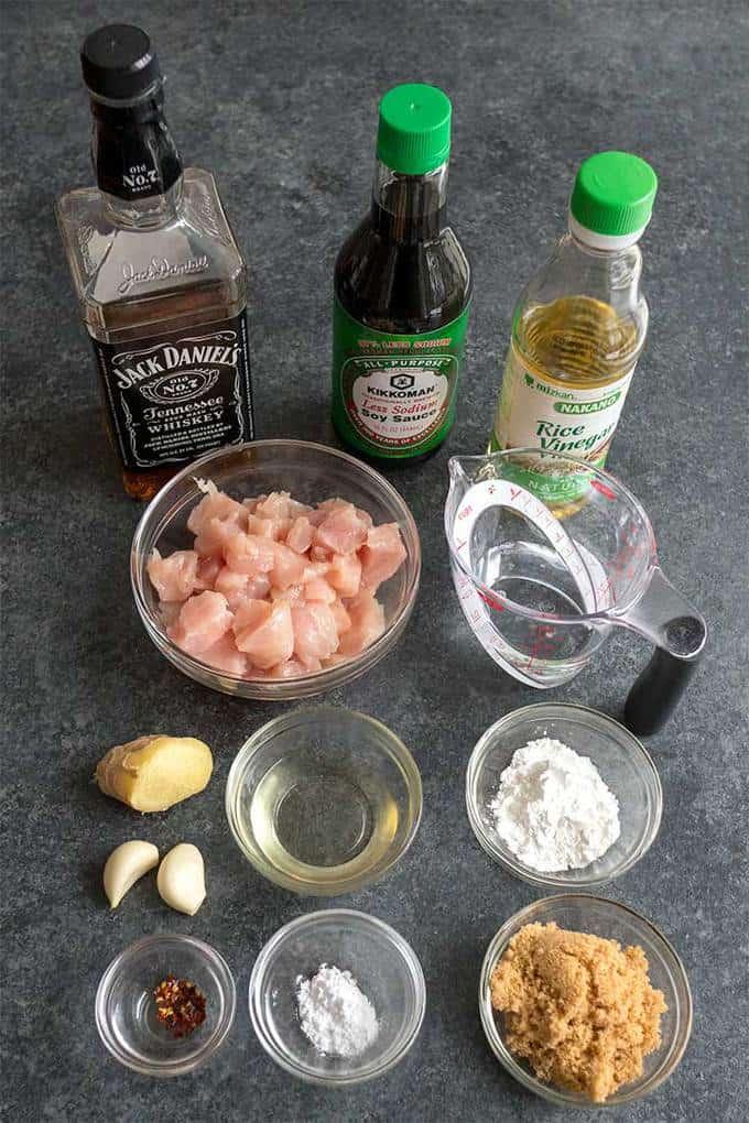 Ingredients for Bourbon Chicken