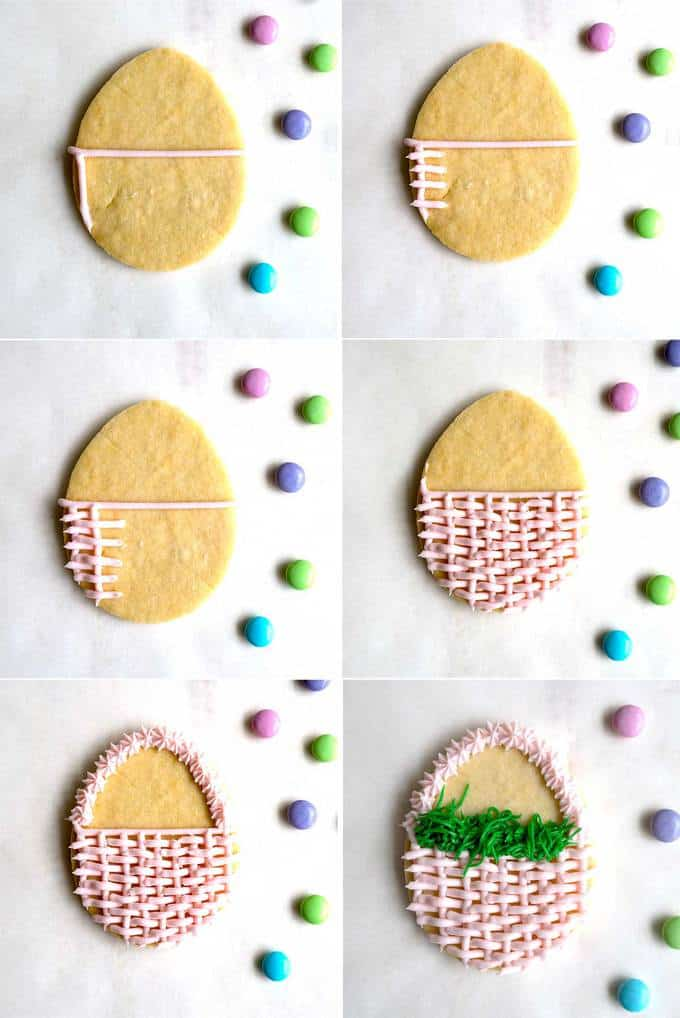 Making the Baskets for the Easter Basket Cookies