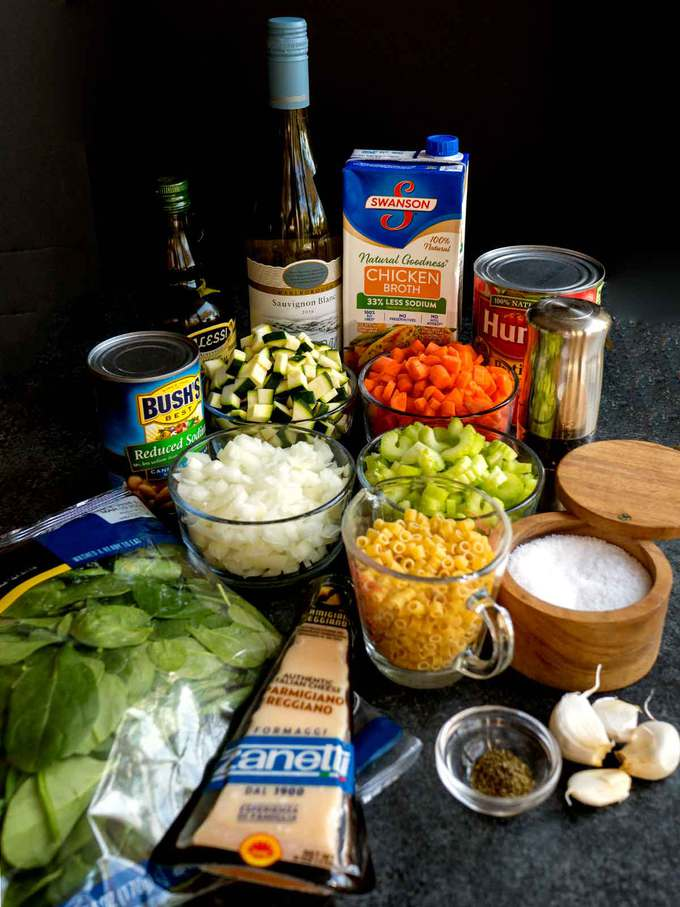 Ingredients for Hearty Minestrone