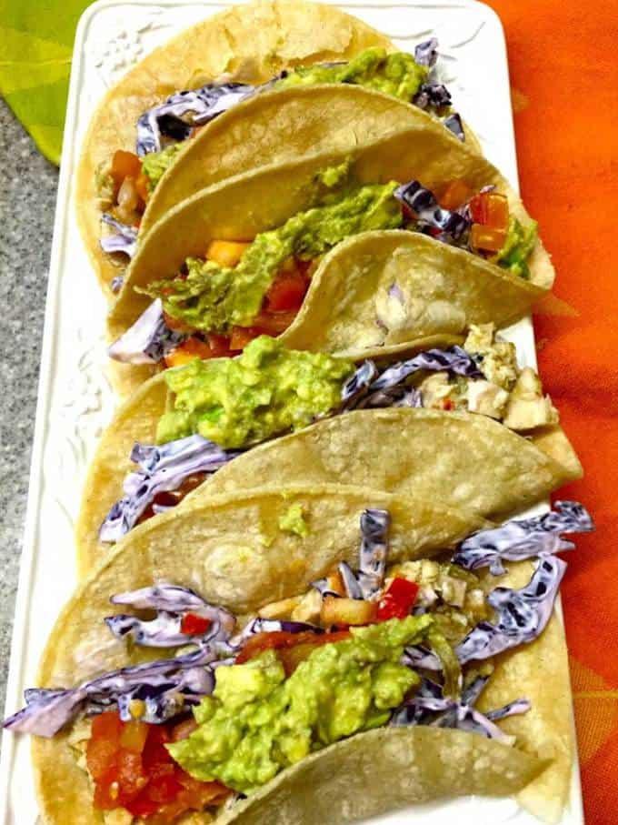 Easy Salsa Verde Chicken Tacos