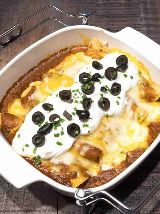 Enchiladas with Awesome Red Sauce