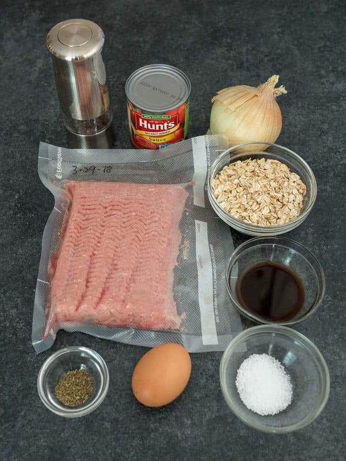 Ingredients for Chris' Lazy Man Meatloaf