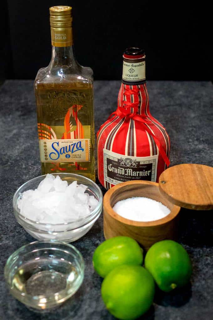 Ingredients for Ultimate Frozen Margarita