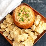 Cheesy Salsa Dip in a Bread Bowl