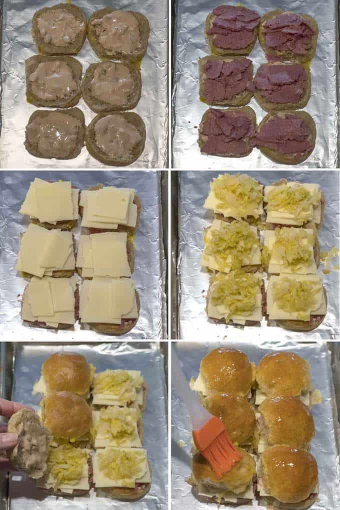 Making the Easy Reuben Sliders