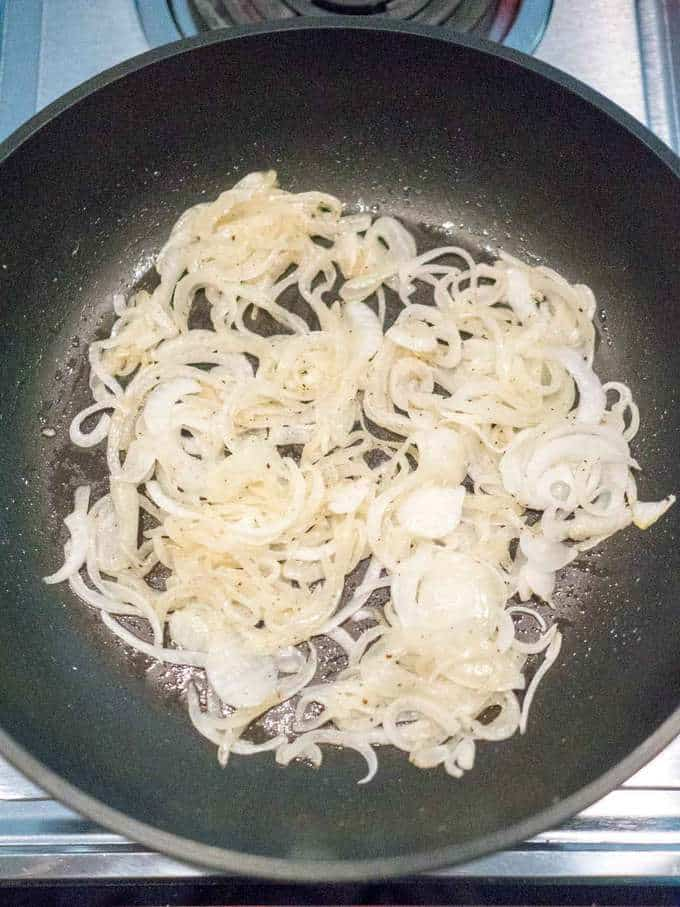 Sauteed Onions for Easy Cheesy Potato and Onion Au Gratin