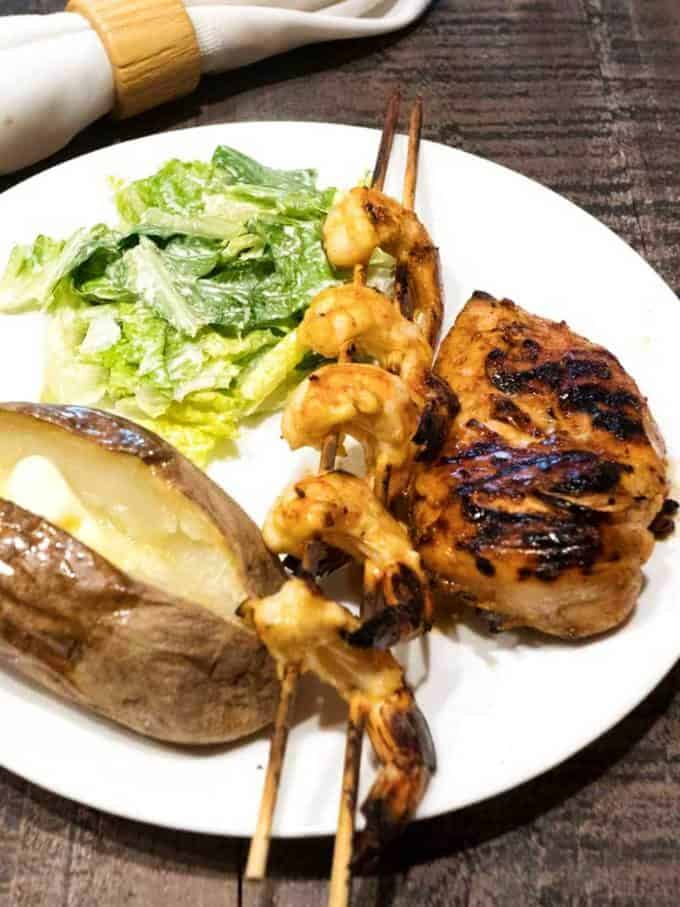 Tequila Lime Grilled Chicken and Shrimp