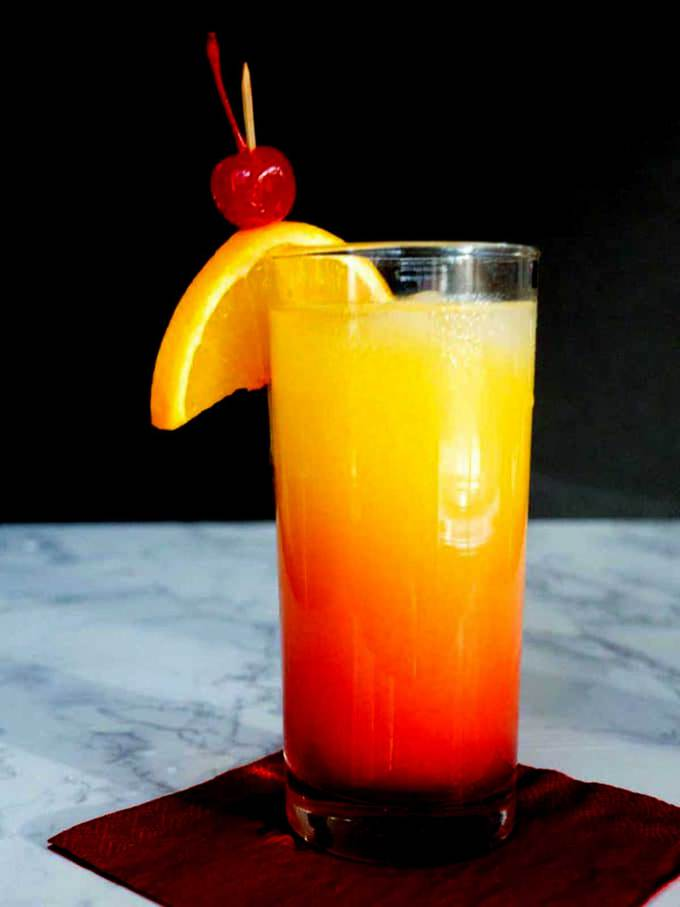 Simple Tequila Sunrise for Cinco de Mayo