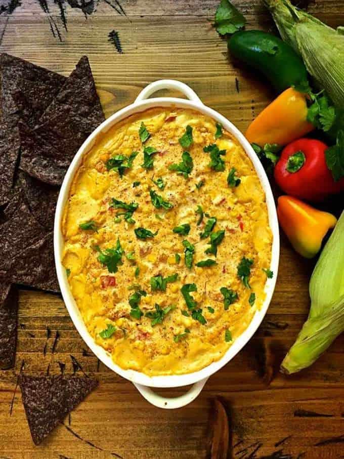 Easy Cheesy Hot Corn Dip
