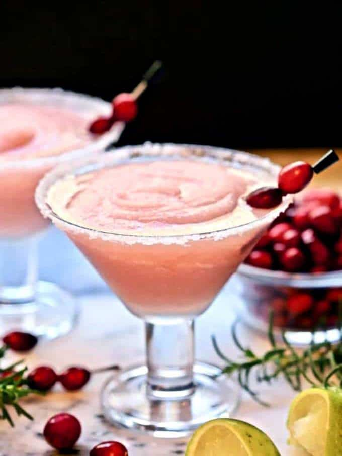 Easy Frozen Cranberry Margarita
