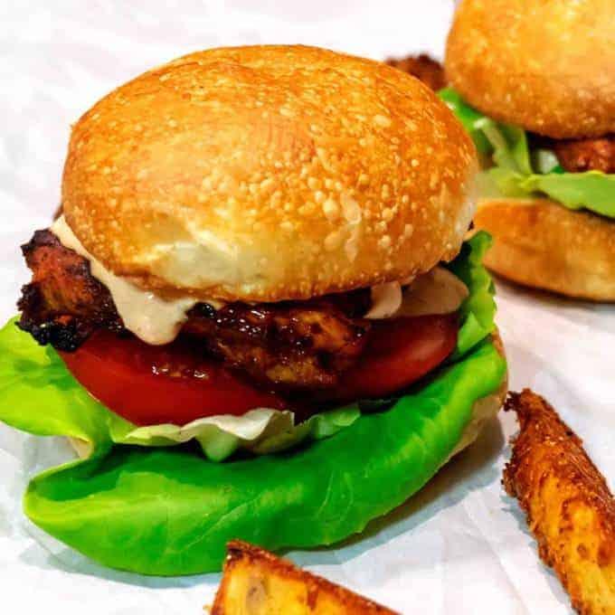 Grilled Peri Peri Chicken Burgers
