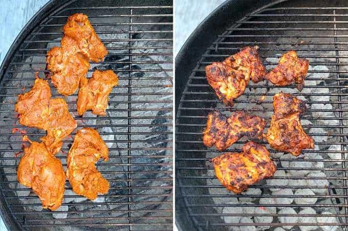 Grilling the Peri Peri Chicken