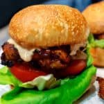 Grilled Peri Peri Chicken Burger