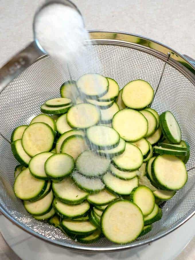 Adding Salt to Zucchini