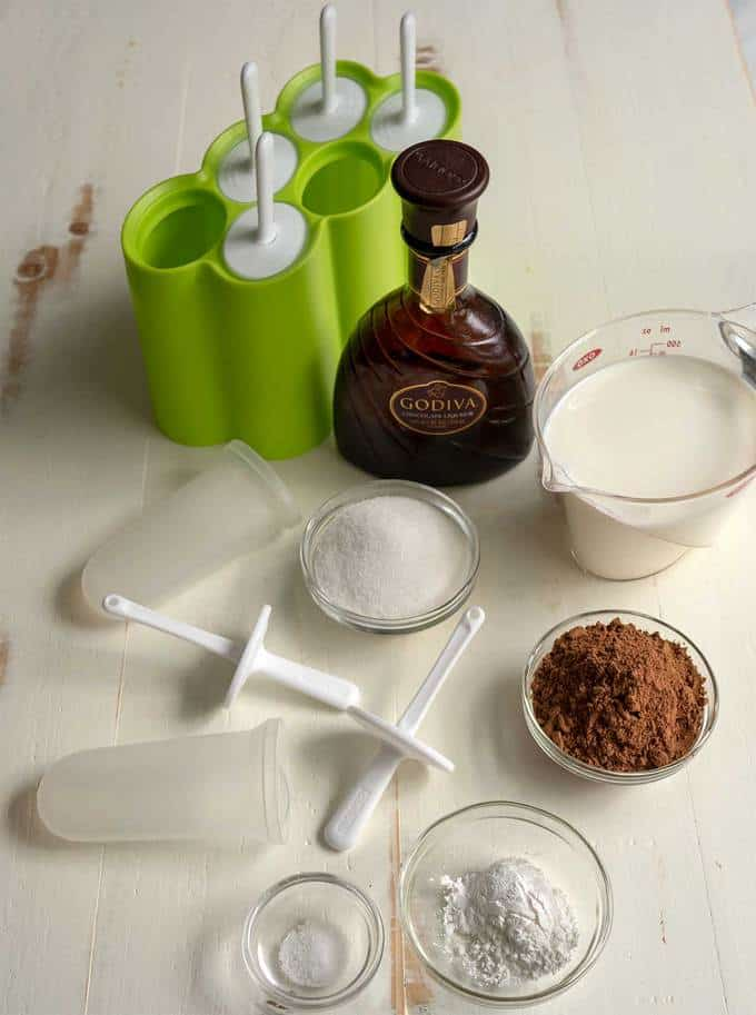 Ingredients for Intensely Chocolate Grown-up Fudgesicles