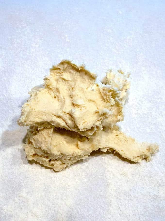 Shaggy Dough for Three Cheese Zucchini Tart
