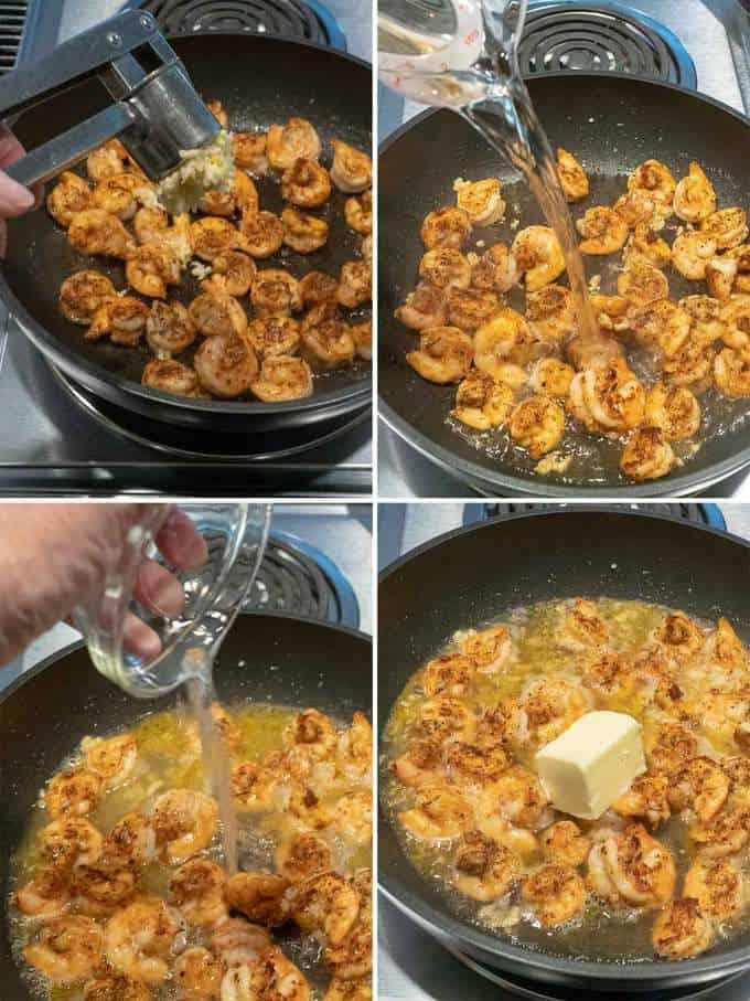Cooking the Shrimp for the Easy Shrimp Scampi