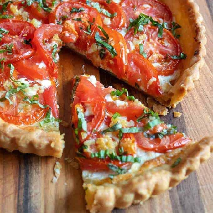 Fresh Tomato Ricotta Tart in Puff Pastry