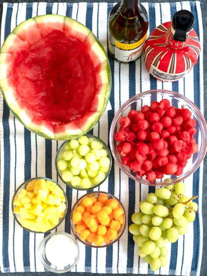 Ingredients for Grande Fruit Bowl