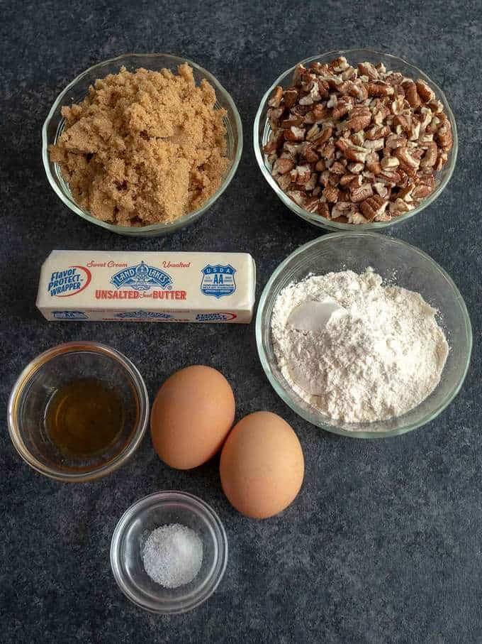Ingredients for Pecan Pie Mini-Muffins