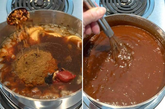 Making Barbecue Sauce for Instant Pot Pulled Chicken