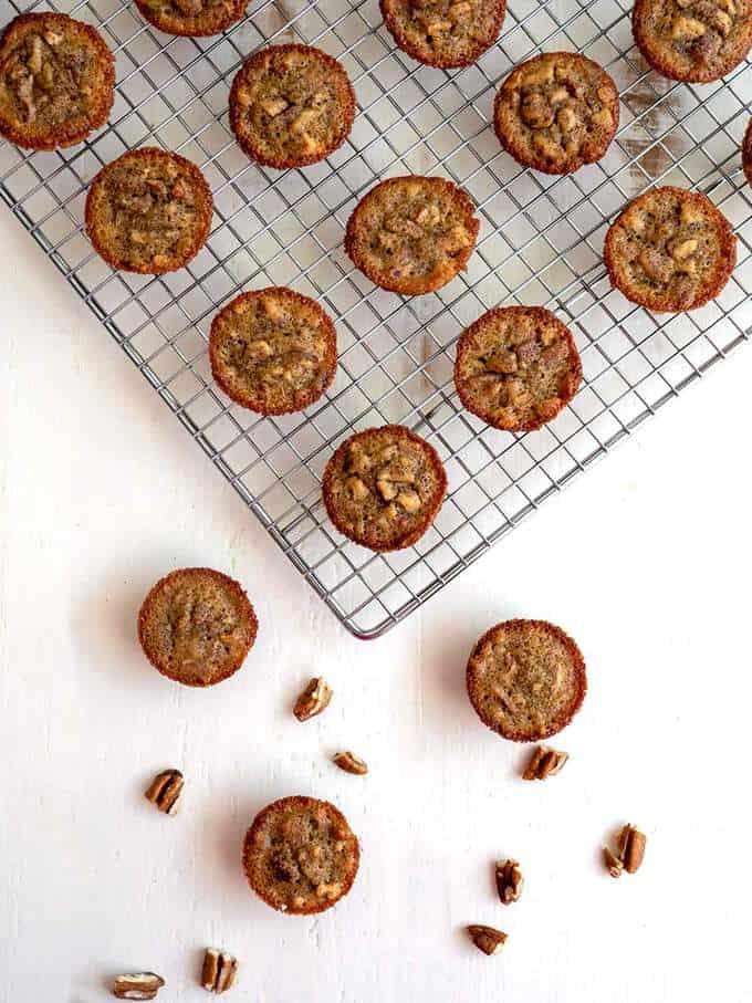Pecan Pie Mini-Muffins Cooling