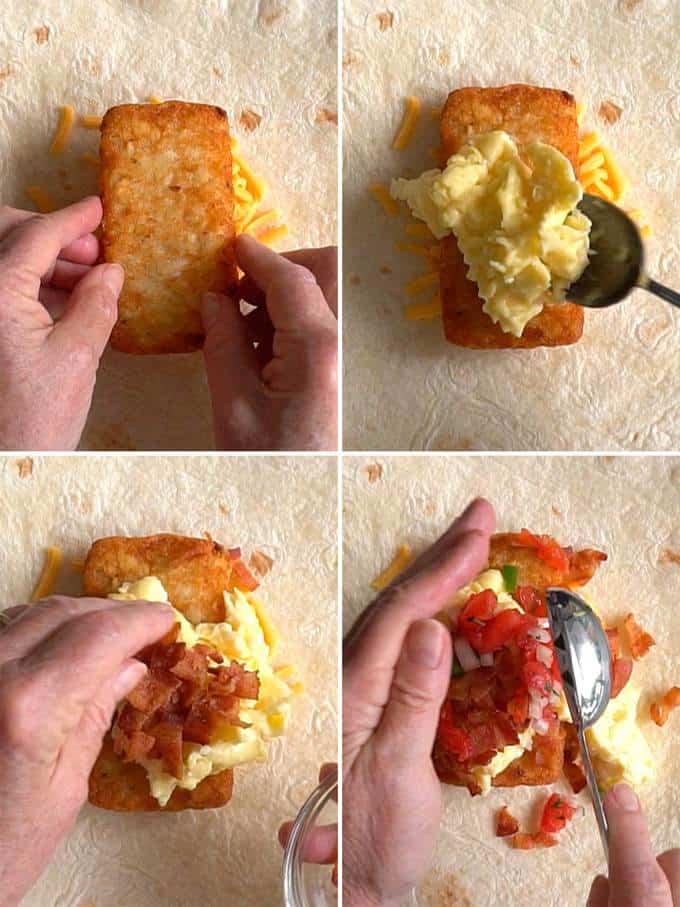 The Filling for Tasty Breakfast Quesadilla Wrap
