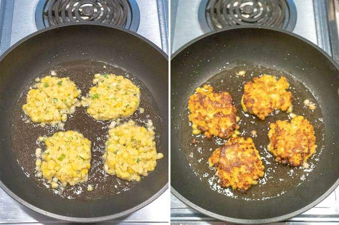 Cooking the Fresh Sweet Corn Fritters