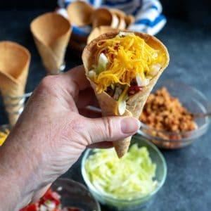 Taco Waffle Cones