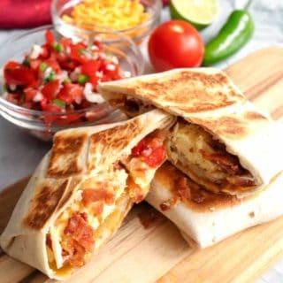 Tasty Breakfast Quesadilla Wrap