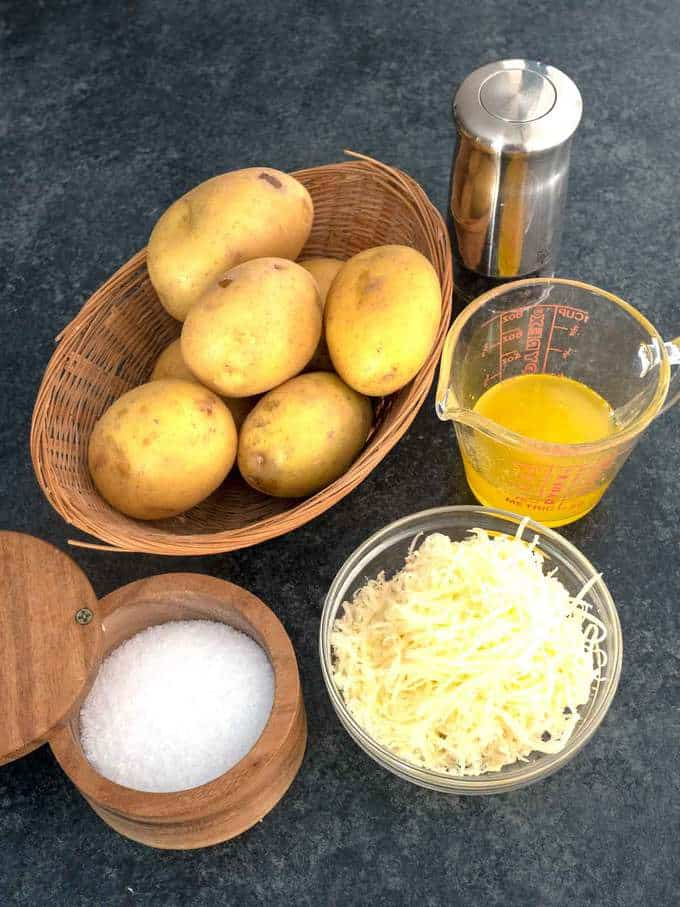 Ingredients for Pommes Anna