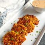 Fresh Sweet Corn Fritters with Honey Chipotle Sauce