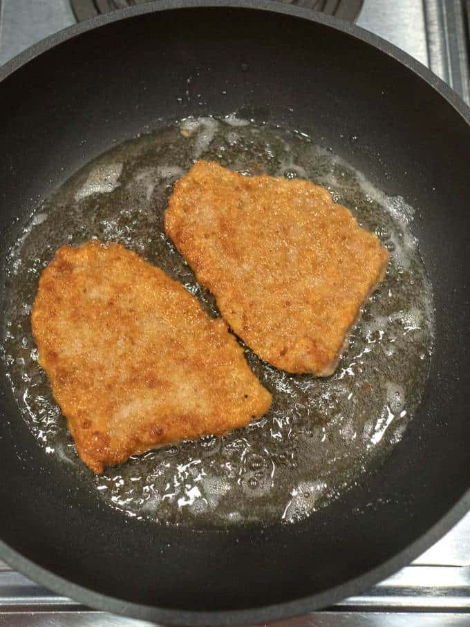Cooking the Pork for the Jaeger Schnitzel