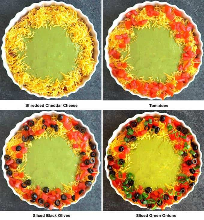 Final Four Layers for Spooky 8-Layer Taco Dip