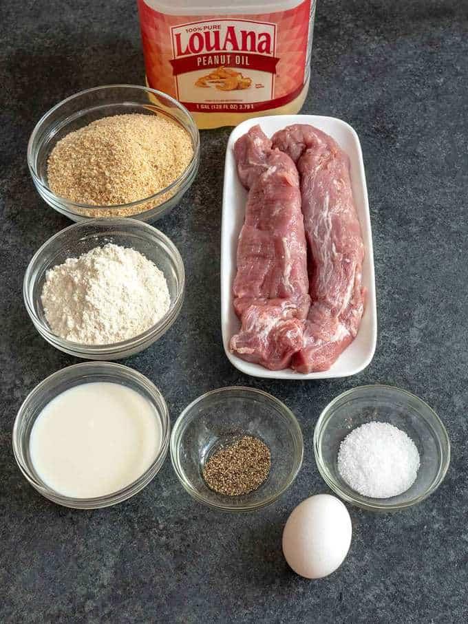 Ingredients for Jaeger Schnitzel