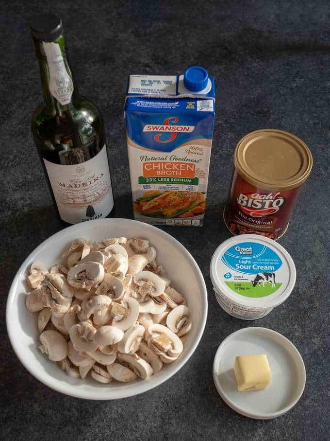 Ingredients for Mushroom Sauce