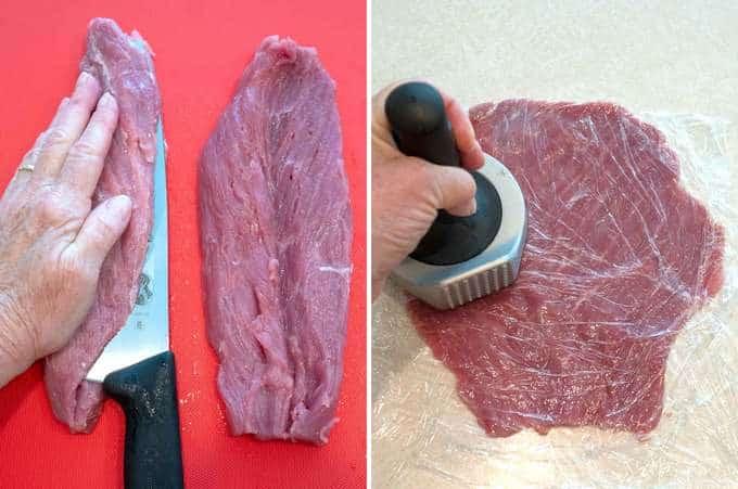 Preparing the Pork Tenderloin for Jaeger Schnitzel