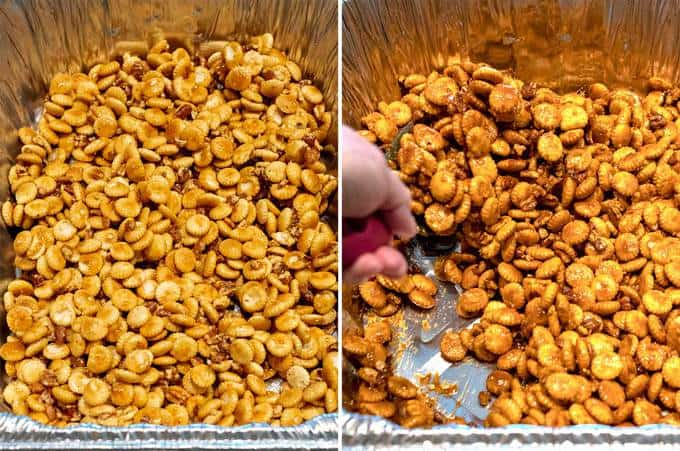 Baking the Caramel Oyster Crackers