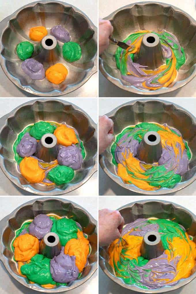 Building the Halloween Surprise Bundt Cake