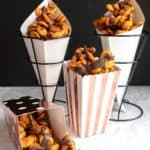 Chocolate Drizzled Caramel Oyster Crackers