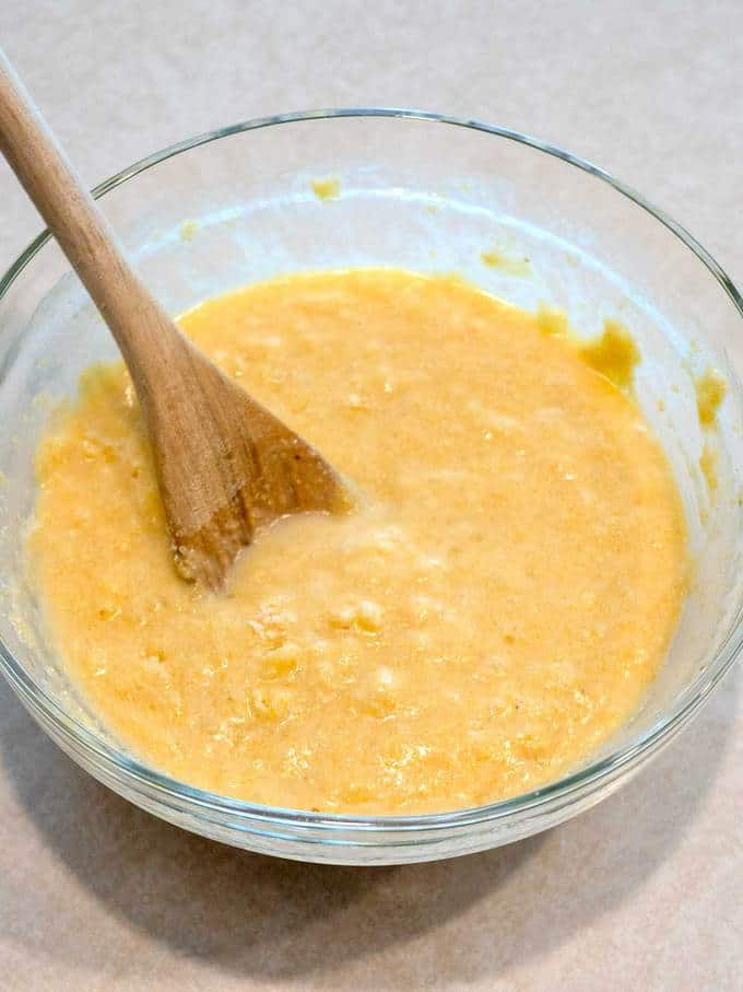 Batter for Honey Cornbread Muffins