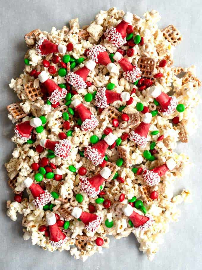 Santa's Crunch on Parchment Paper to Harden