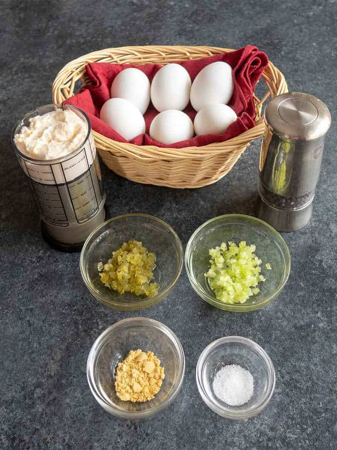 Ingredients for Deviled Eggs