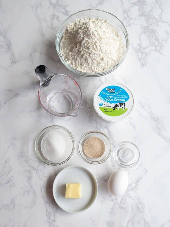 """Dough ingredients for """"Chris"""" Kringle Cakes"""