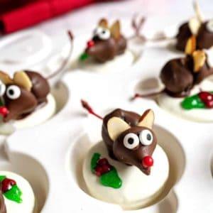 Chocolate Christmas Mice