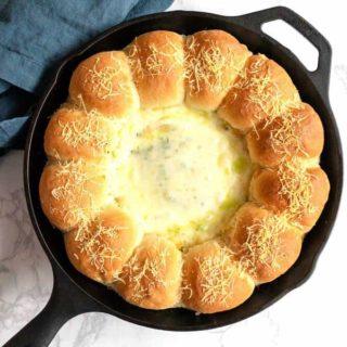 Food Processor Spinach Artichoke Bread Ring Dip