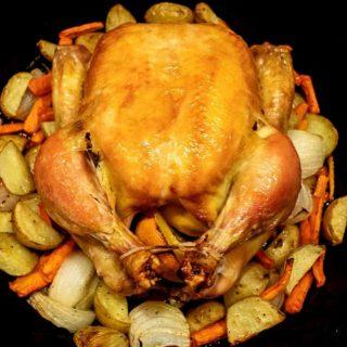 Dry Brined Roast Chicken