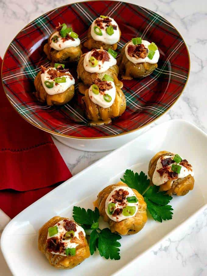 Hasselback Potato Bites