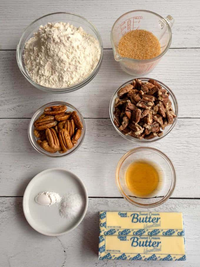 Ingredients for Pecan Sandies
